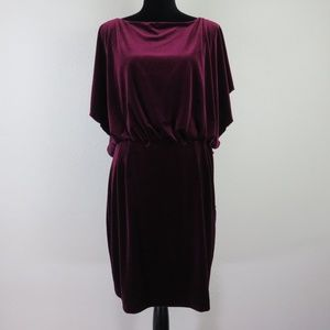 Jessica Simpson Wine Velvet Cocktail Dress